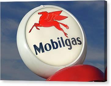 Mobilgas Globe Canvas Print by Mike McGlothlen