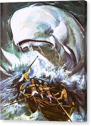 Moby Dick Canvas Print by English School