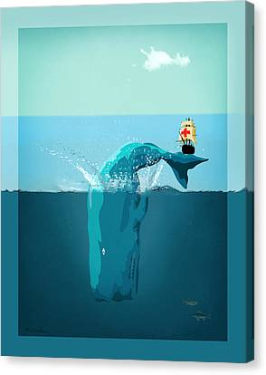 Moby Dick Canvas Print by Mark Ashkenazi
