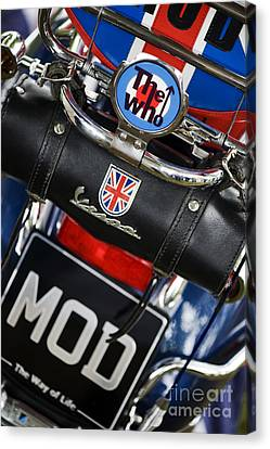 Mod Vespa Canvas Print by Tim Gainey