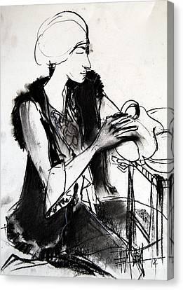 Model #1 - Figure Series Canvas Print by Mona Edulesco