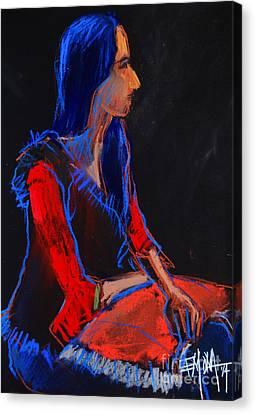 Model #2 - Figure Series Canvas Print by Mona Edulesco