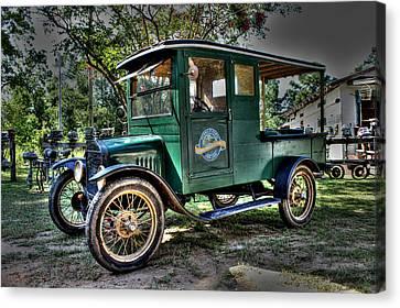 Model T Truck In Bon Secour Al Canvas Print by Lynn Jordan