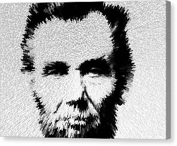 Modern Abe - Abraham Lincoln Art By Sharon Cummings Canvas Print by Sharon Cummings