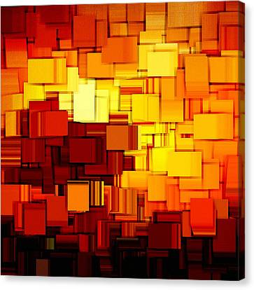 Modern Abstract Xi Canvas Print by Lourry Legarde