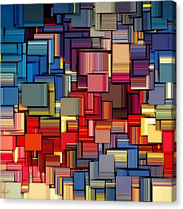 Modern Abstract Xii Canvas Print by Lourry Legarde