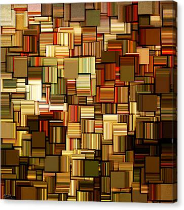 Modern Abstract Xxiii Canvas Print by Lourry Legarde