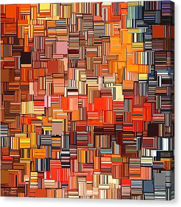 Modern Abstract Xxxi Canvas Print by Lourry Legarde