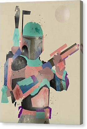 Modern Boba Fett Canvas Print by Bri B
