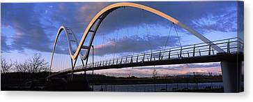Modern Bridge Over A River, Infinity Canvas Print by Panoramic Images