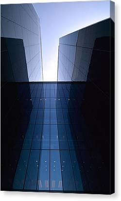Modern Building Vertical Canvas Print by Toppart Sweden