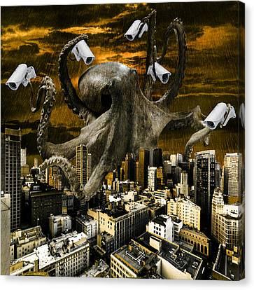 Modern Freedom Canvas Print by Marian Voicu