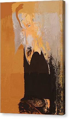 Modern From Classic Art Portrait - 01 Canvas Print by Variance Collections