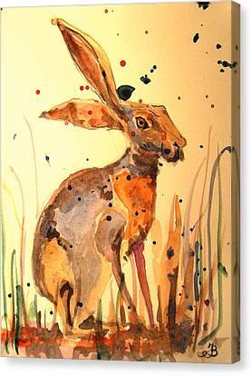 Modern Hare Canvas Print by Juan  Bosco
