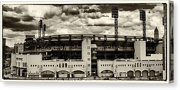 Modern Retro Pnc Park Exterior Canvas Print by Gary Cain