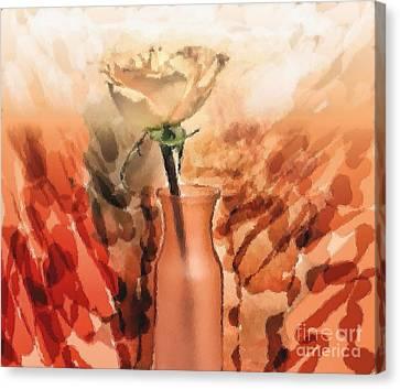 Modern Rose Canvas Print by Marsha Heiken
