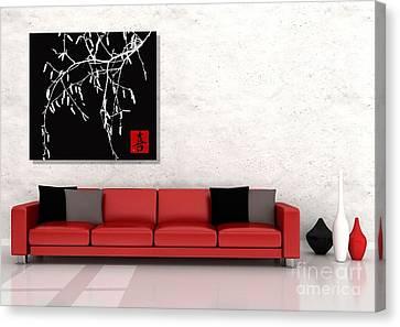 Modern Zen Design Canvas Print by Andrea Kollo
