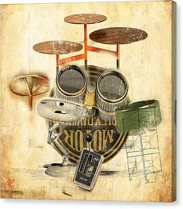 Modernist Percussion Canvas Print by Russell Pierce