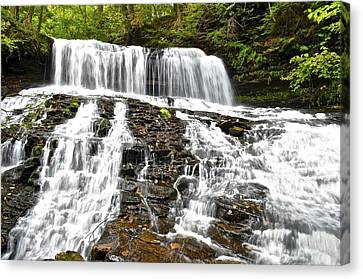 Mohawk Falls Canvas Print by Frozen in Time Fine Art Photography
