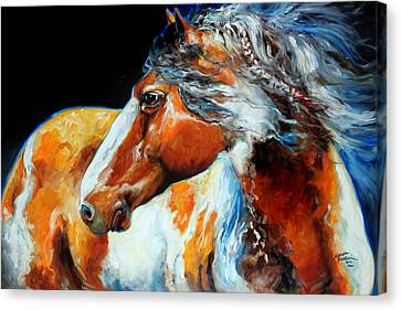 Mohican The Indian War Pony Canvas Print by Marcia Baldwin