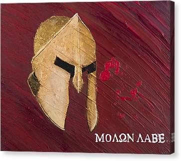 Molon Labe Canvas Print by Lifeblood Art