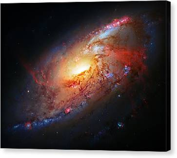 Molten Galaxy Canvas Print by The  Vault - Jennifer Rondinelli Reilly
