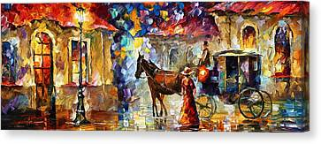 Momentary Stop Canvas Print by Leonid Afremov