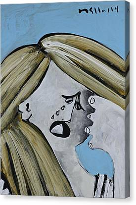 Momentis  The Crying Sister Canvas Print by Mark M  Mellon