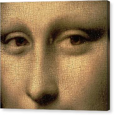 Mona Lisa    Detail Canvas Print by Leonardo Da Vinci