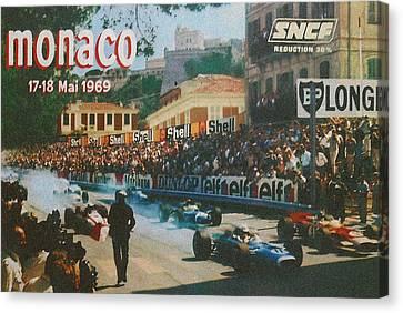Monaco 1969 Canvas Print by Georgia Fowler