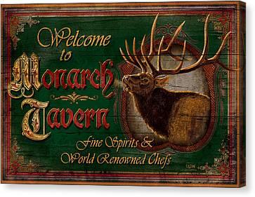 Monarch Tavern Canvas Print by JQ Licensing