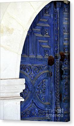 Monastery Door Canvas Print by John Rizzuto