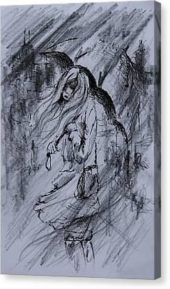 Monday Morning Rain Canvas Print by Rachel Christine Nowicki
