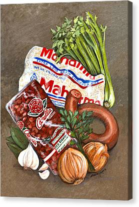 Monday's Tradition - Red Beans And Rice Canvas Print by Elaine Hodges