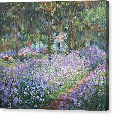 Monet, Claude 1840-1926. The Artists Canvas Print by Everett