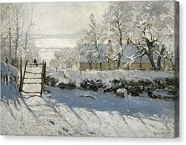 Monet, Claude 1840-1926. The Magpie Canvas Print by Everett