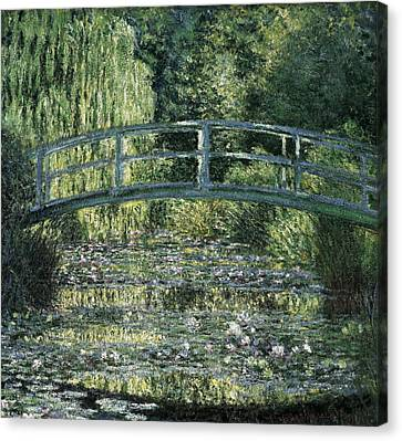 Monet, Claude 1840-1926. The Waterlily Canvas Print by Everett