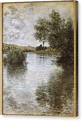 Monet, Claude 1840-1926. V�theuil Canvas Print by Everett