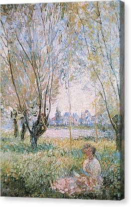 Monet, Claude 1840-1926. Woman Seated Canvas Print by Everett