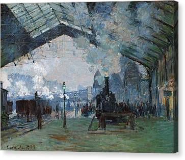Monet Train, 1877 Canvas Print by Granger
