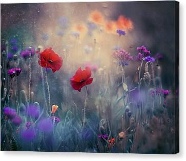 Monet's Garden II Canvas Print by Magda  Bognar
