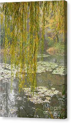 Monet's Garden Number One Canvas Print by Joan Liffring-Zug Bourret