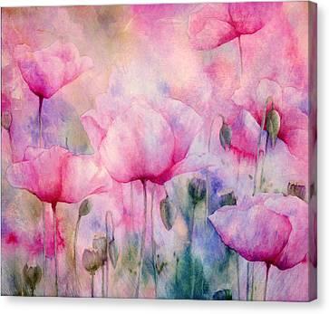 Monet's Poppies Vintage Cool Canvas Print by Georgiana Romanovna