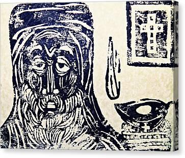 Monk 5 Canvas Print by Sarah Loft