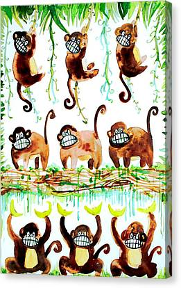 Monkey Armada Canvas Print by Fabrizio Cassetta