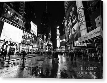 Mono Times Square  Canvas Print by John Farnan
