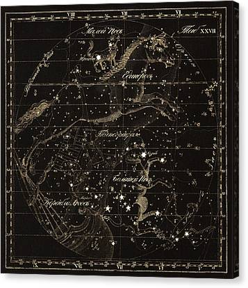 Monoceros Constellations, 1829 Canvas Print by Science Photo Library