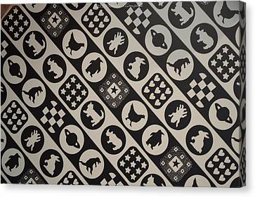 Monochrome Mosaic Canvas Print by Sonali Gangane