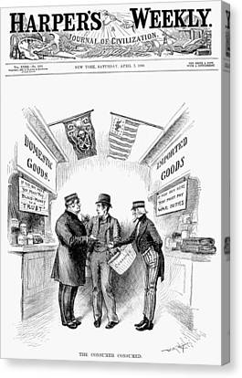 Monopoly And Tariffs, 1888 Canvas Print by Granger