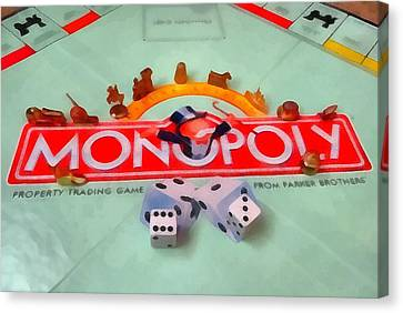Monopoly Board Game Canvas Print by Dan Sproul